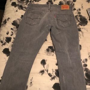 Levi's Jeans - Mens Levi's 34x32 Straight Leg Grey